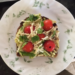 Vegan Caprese Avocado Toast