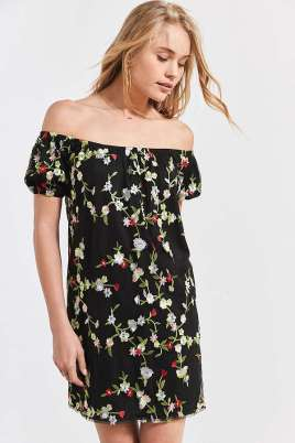 https://www.urbanoutfitters.com/shop/kimchi-blue-embroidered-floral-off-the-shoulder-dress?category=dresses-on-sale&color=009